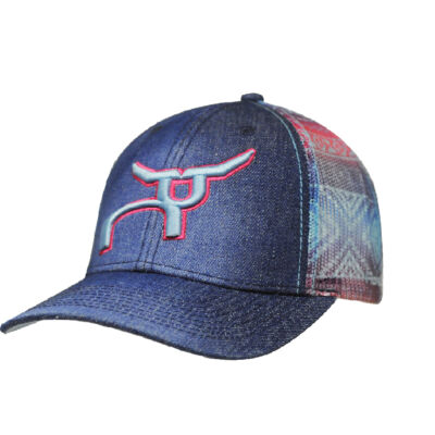 RS Youth Jean Pink Blue Aztec Pattern Snapback