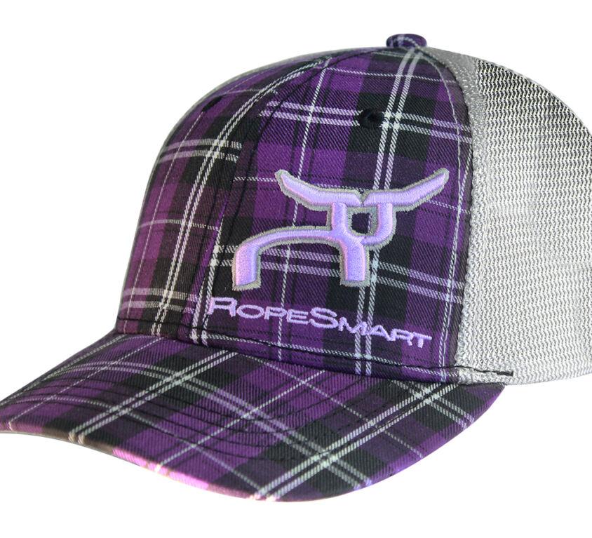 RS Plaid Purple & Silver Mesh Snapback