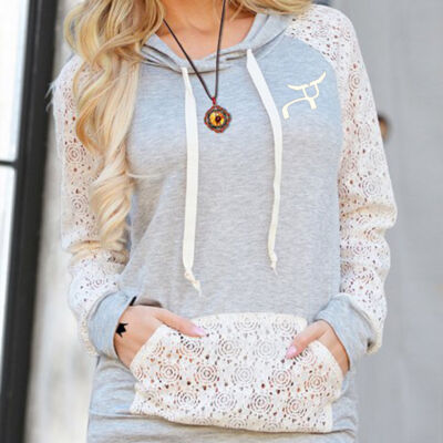 RS Cream Lace Hoodie