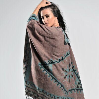 Varianna Mauve Knitted Shawl