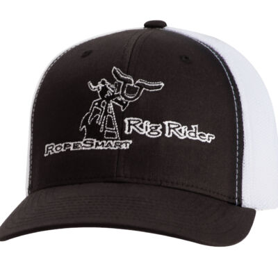 "RS ""Rig Rider"" Black & White Trucker SnapBack"