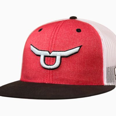 RS Classic Heather Red Snapback White Solo Steer