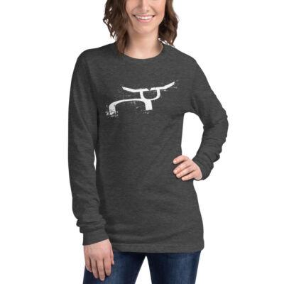 RS Rugged White Steer Long Sleeve T-Shirt
